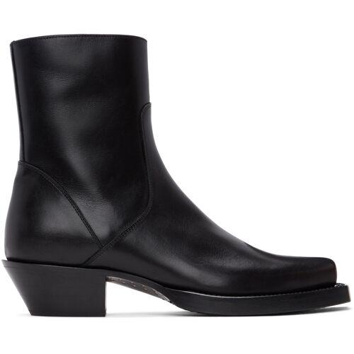 VETEMENTS Black Texas Boots 46