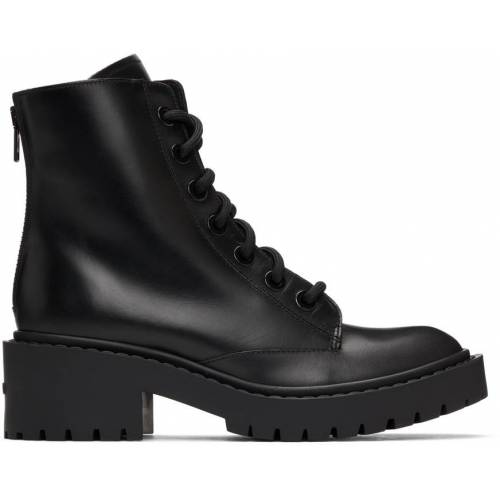 Kenzo Black Pike Lace-Up Boots 36