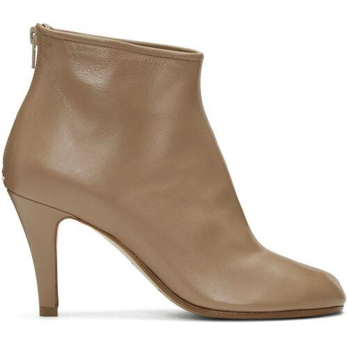 Maison Margiela Tan Stiletto Tabi Boots 41
