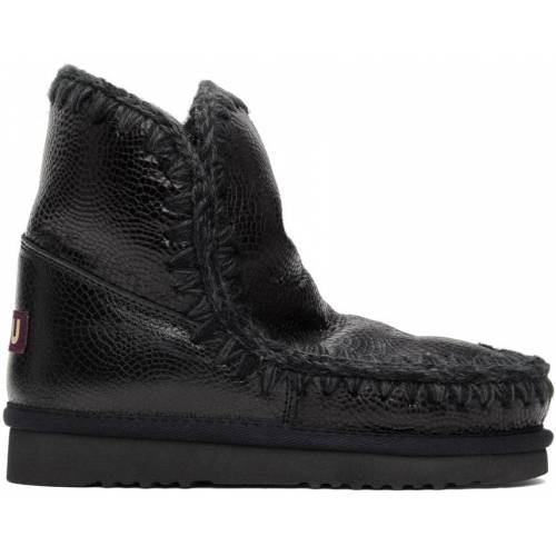 Mou Black Embossed 18 Ankle Boots 35