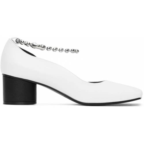 Flat Apartment White Streamlined Squared Toe Pumps 39