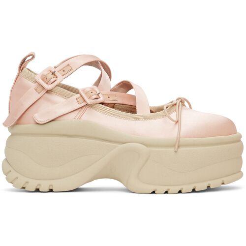 Simone Rocha Pink Platform Track Sole Ballerina Sneakers 39