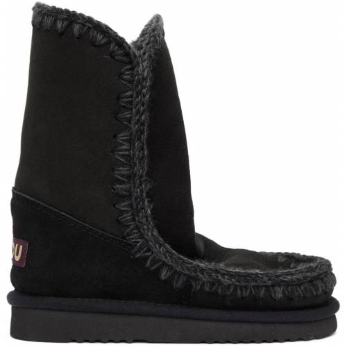 Mou Black 24 Mid-Calf Boots 36