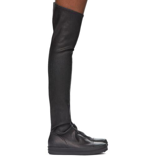 Rick Owens Drkshdw Black Thigh-High Sock Boots 37