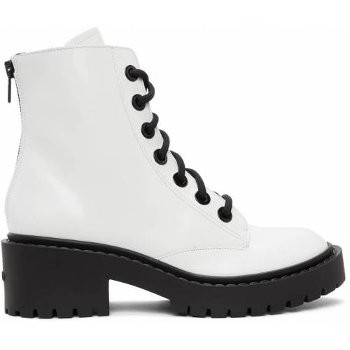Kenzo White Pike Lace-Up Boots 38