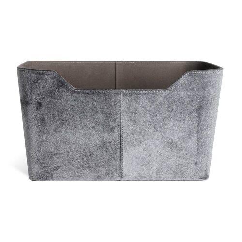 DEPOT Tasche Samt ca. B43,5xT22,5x, dkl-grau