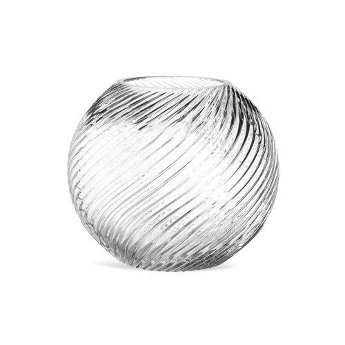 DEPOT Kugelvase Wirbel Glas ca.20x17cm, klar