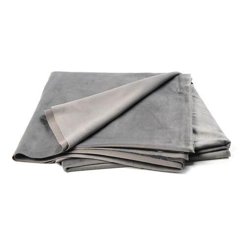 DEPOT Samt-Dekostoff, B:150cm x L:300cm, grau