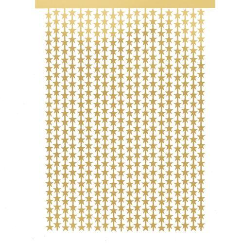 DEPOT Vorhang Lametta Stern, gold