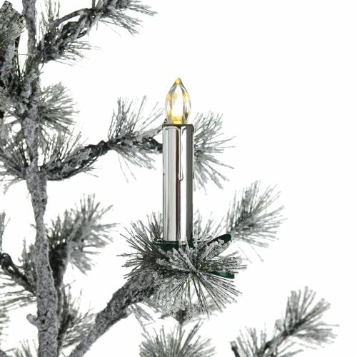 DEPOT LED-Kerze, kabellos, 10 Stück, silber