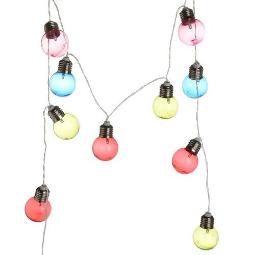 DEPOT Lichterkette Glühbirnen 10Led, bunt