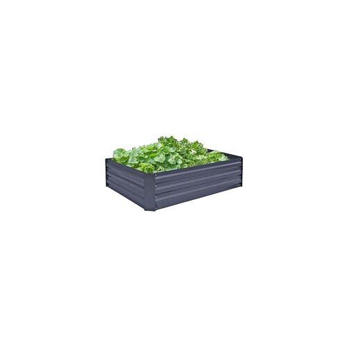 Garden Pleasure Hochbeet / Beetumrandung 120x90cm Metall verzinkt Anthrazit