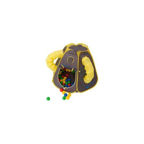 NATIV SPIELZEUG Bällebad SPACE mit 100 Bällen, Spielzelt, Pop-Up, Kinderzelt