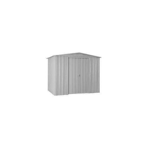 VITAVIA Gerätehaus DREAM, Gartenhaus aus Stahlblech Silber metallic