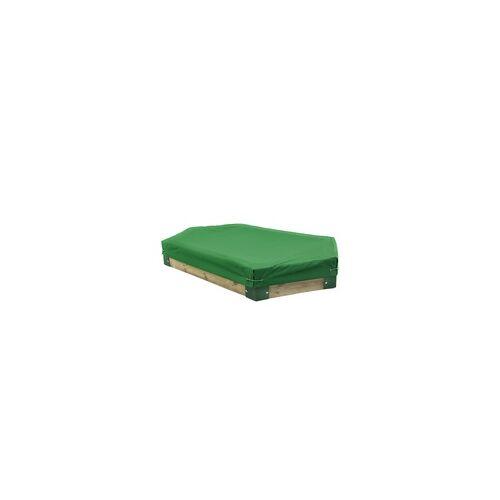 Hörby Bruk Sandkasten aus Holz, 6-eckig, Holzsandkasten, Sandbox Sandkasten mit Abdeckung