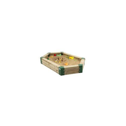 Hörby Bruk Sandkasten aus Holz, 6-eckig, Holzsandkasten, Sandbox Sandkasten ohne Abdeckung
