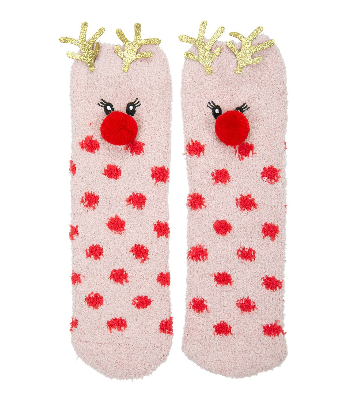 SIX Weihnachtliche Socken X-Mas Kitsch Synthetik