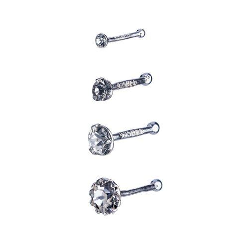 SIX 4er Set Nasenpiercings aus 925er Silber Piercing