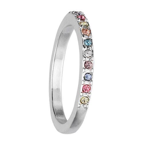 SIX Ring mit Verzierung Kristallen in Glanz-Optik Schmuck Swarovski® Kristalle, Metall