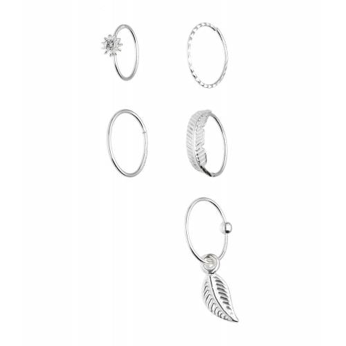 SIX Nasenring mit Kristallen aus 925er Silber  Swarovski® Kristalle,