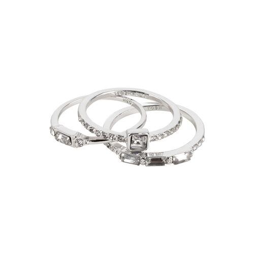 TOSH Ring-Set mit auffälligem Kristall-Besatz Ringe Metall, Swarovski® Kristalle