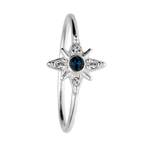 SIX Ring 925er Silber mit Stern und Kristallen  Swarovski® Kristalle,