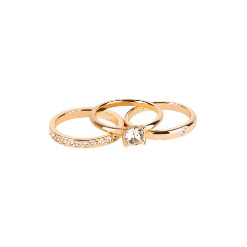 TOSH Ring-Set mit auffälligem Kristall-Besatz Ringe Swarovski® Kristalle, Metall