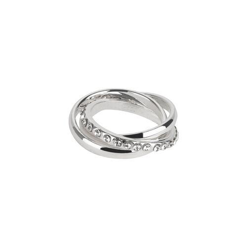 TOSH Ring im Stacking-Look mit Kristallbesatz Ringe Metall, Swarovski® Kristalle