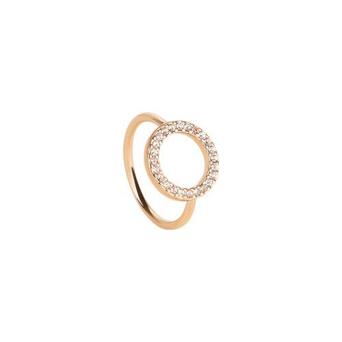 TOSH Ring besetzt mit Kristallen  Swarovski® Kristalle, Metall