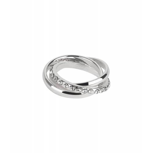 TOSH Ring im Stacking-Look mit Kristallbesatz