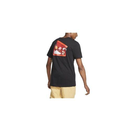 Nike Sportswear Tee L Black / Habanero Red