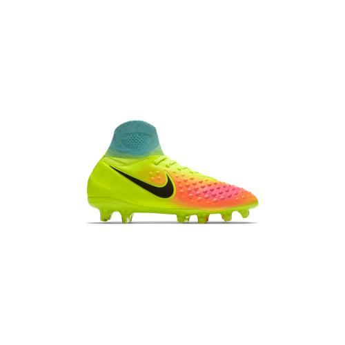 Nike Magista Obra II FG Kinder Fu?ballschuhe Nocken gelb 38 VOLT /BLACK ORANGE