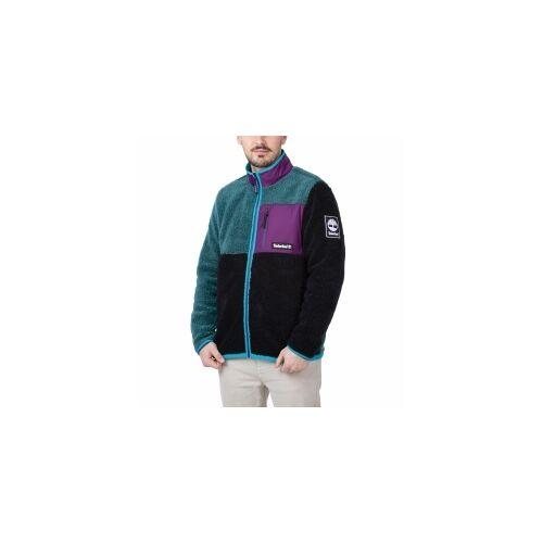 Timberland Sherpa Jacket Herren Fleecejacke schwarz grün lila 2XL