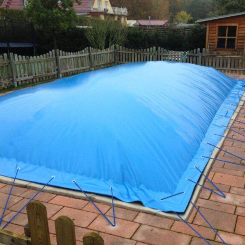 Aufblasbare Schwimmbadabdeckung für Rechteckbecken 700 x 350 cm