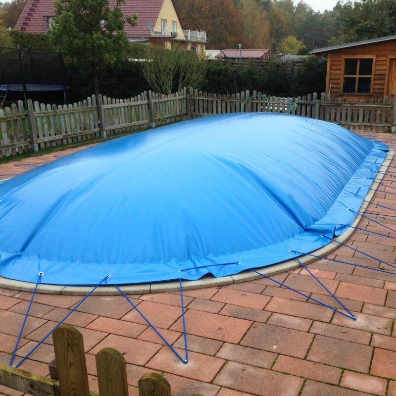 Aufblasbare Schwimmbadabdeckung für Ovalbecken 570 x 300 cm