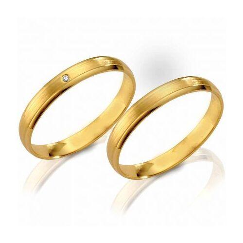 Günstige Eheringe aus Gelbgold mit Brillant