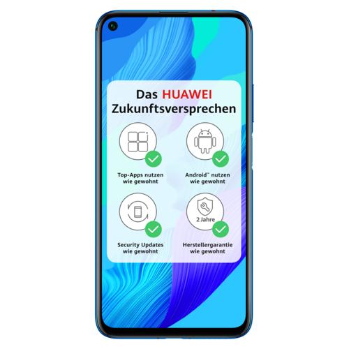 Huawei *HUAWEI Nova 5T Dual-SIM crush blue Android 9.1 Smartphone 48 MP KI Quad-Kamera