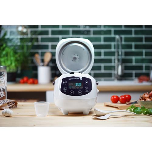 Reishunger Digitaler Mini Reiskocher 0,6l weiß