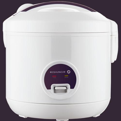 Reishunger Basis Reiskocher 1,2l weiß mit keramikbeschichtetem Topf