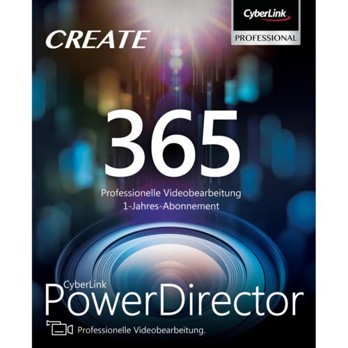 Cyberlink PowerDirector 365 12 Mo ESD DE Software für Videobearbeitung