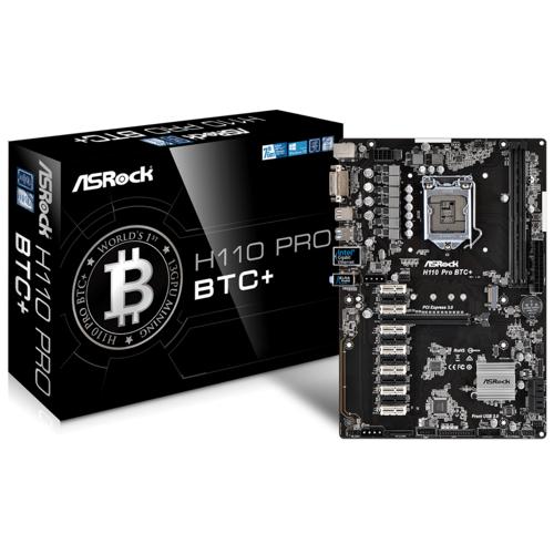 ASRock H110 Pro BTC + Bitcoin  ATX Mainboard Sockel 1151