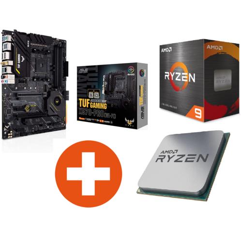 ASUS TUF Gaming X570-Plus WIFI ATX Mainboard Sockel AM4 + AMD Ryzen 9 5900X