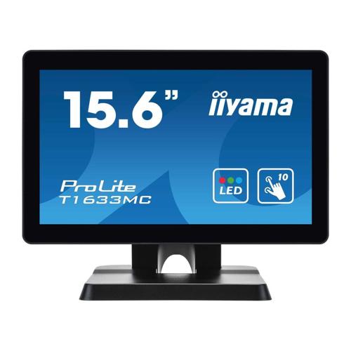 "iiyama ProLite T1633MC-B1 39,6cm (15,6"") P-Cap 10-Punkt-Multitouch-Monitor 16:9"