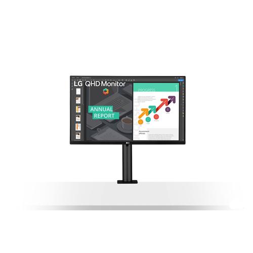 "LG 27QN880 68,6cm (27"") WQHD Ergonomischer Monitor HDMI/DP/USB-C HV Pivot sRGB"