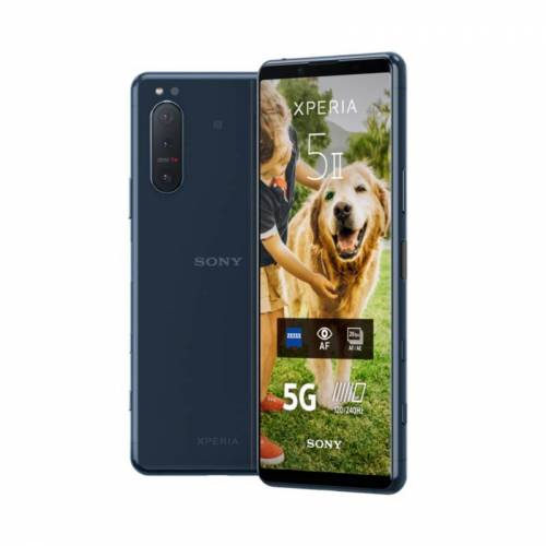 Sony Xperia 5 II Smartphone blue 5G Dual-SIM Android 10.0