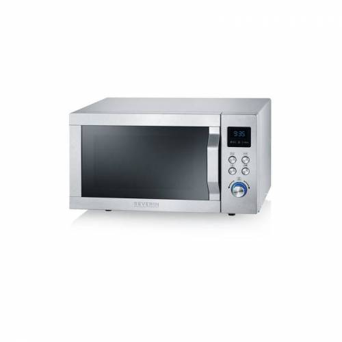 Severin MW 7754 Mikrowelle silber, 900W 25l Garraum, LED-Touch-Display