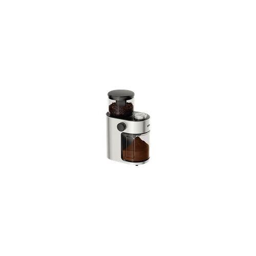 Braun G 7070 Kaffeemühle Silber/Schwarz, Scheibenmahlwerk)