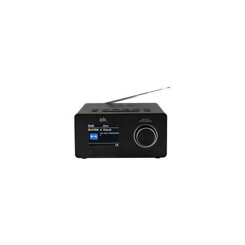 OK. OCR 530-B Radiowecker, DAB+, FM, Bluetooth, Schwarz