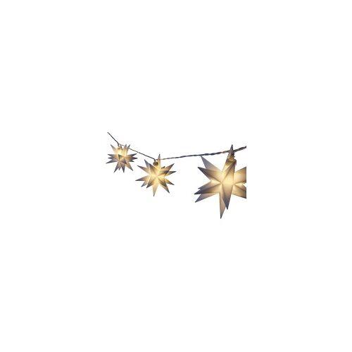 FHS 35201-18 Lichterkette - Stern Leuchtdekoration, Weiß, Warmweiß
