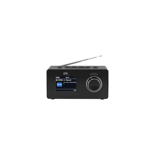 OK. OCR 430-B Radiowecker, FM, DAB+, Bluetooth, Schwarz
